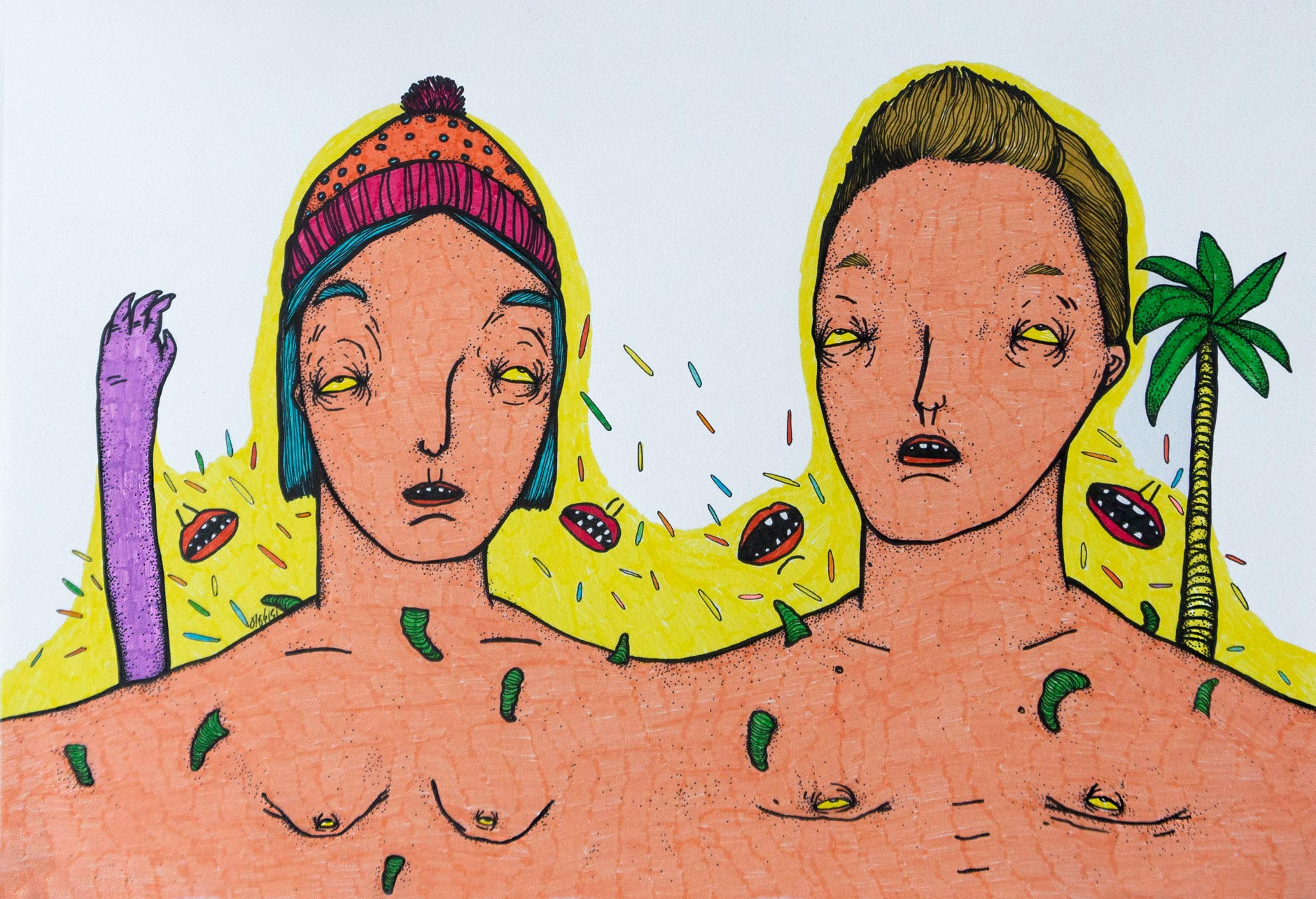 Soulmate | 21 x 29.5 cm | Marker and Pen on cardboard | 2016