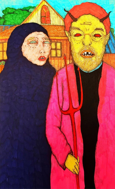 Islamic Gothic | 21 x 29.5 cm | Marker on cardboard | 2016