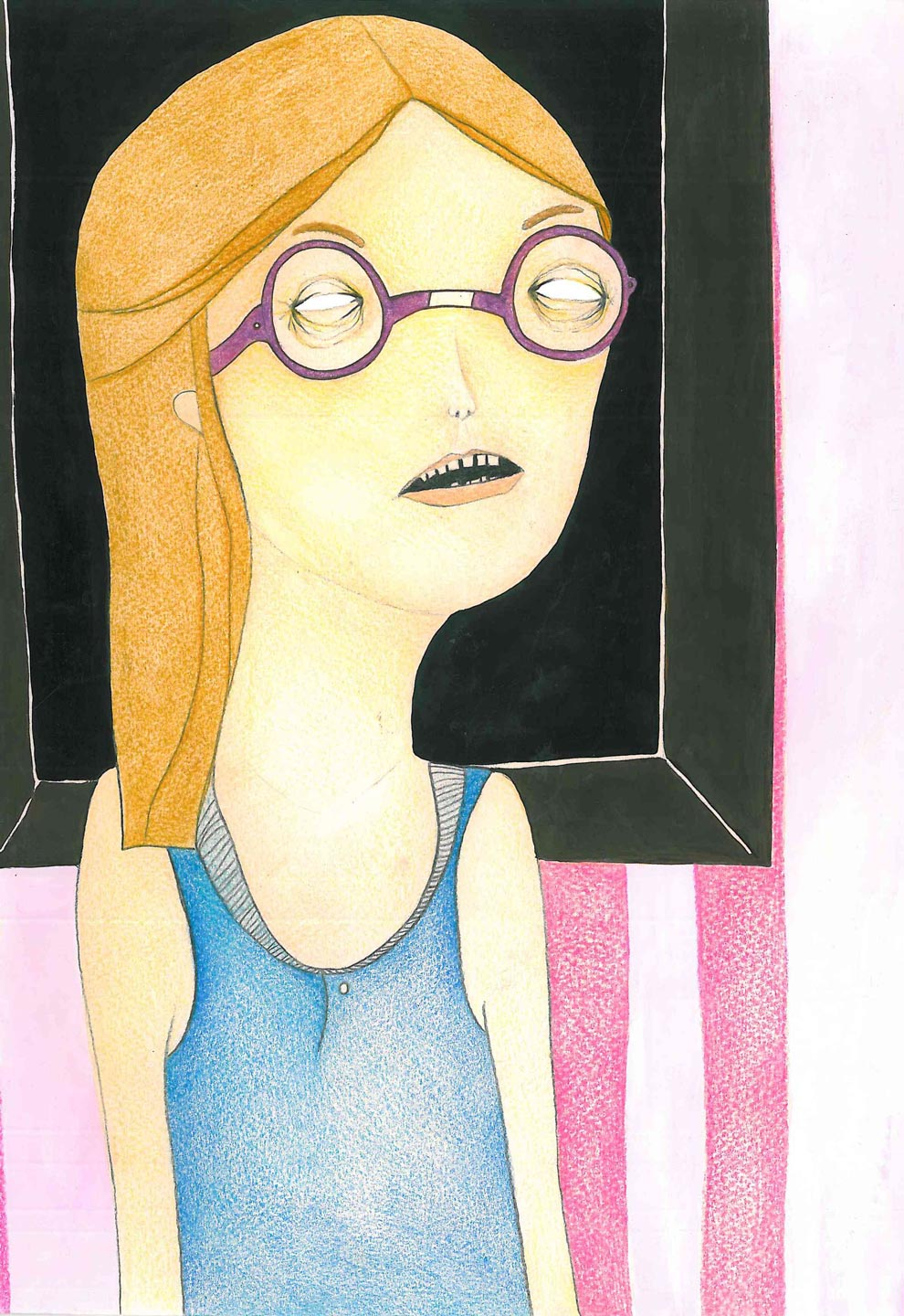 untitled | 21 x 29.5 cm | Colored pencil and ink on paper | 2014